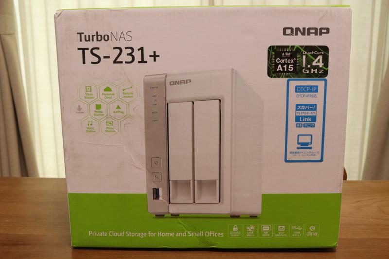 QNAP TS-231+の開封レビュー ハード編