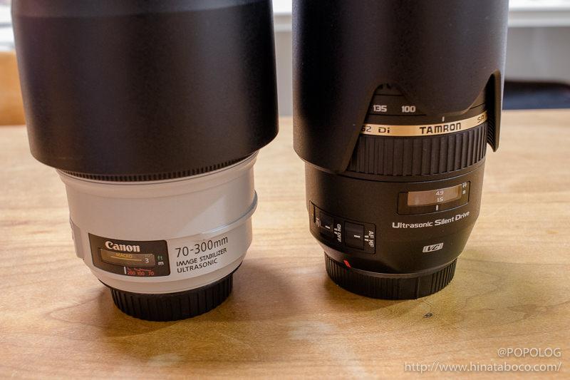 Tamron A005 と キヤノン純正 EF70-300mm Lレンズを比較してみた