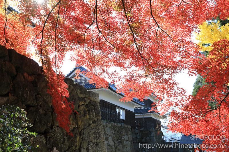 上田城の本丸跡と東櫓門