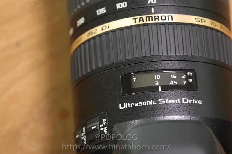 TAMRON(A005E)で焦点距離のメーター