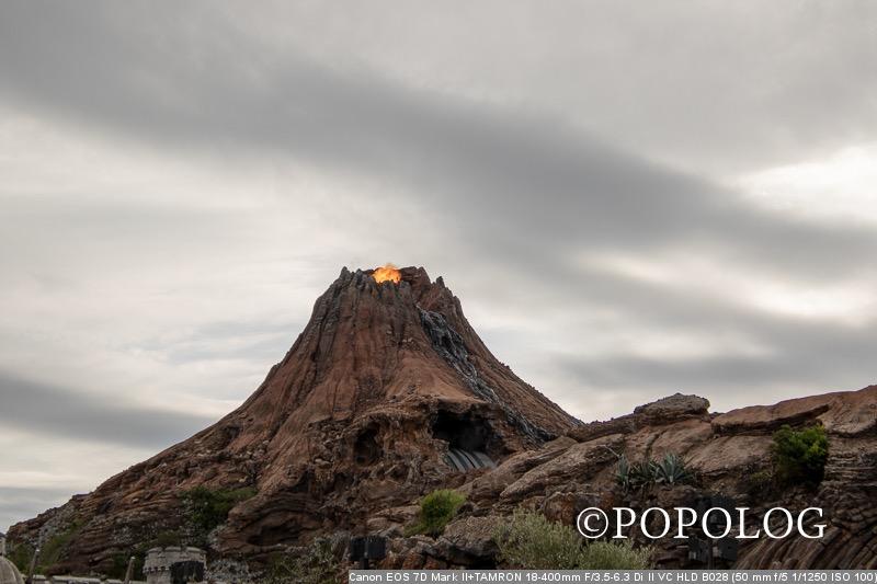 ディズニーシーのプロメテウス火山の噴火