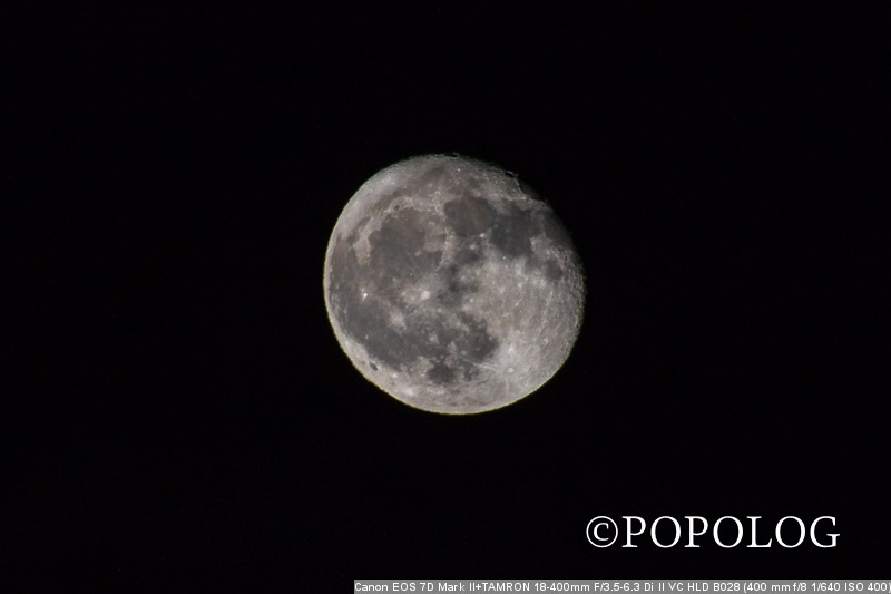 Tamron18400 手持ちで月を撮影