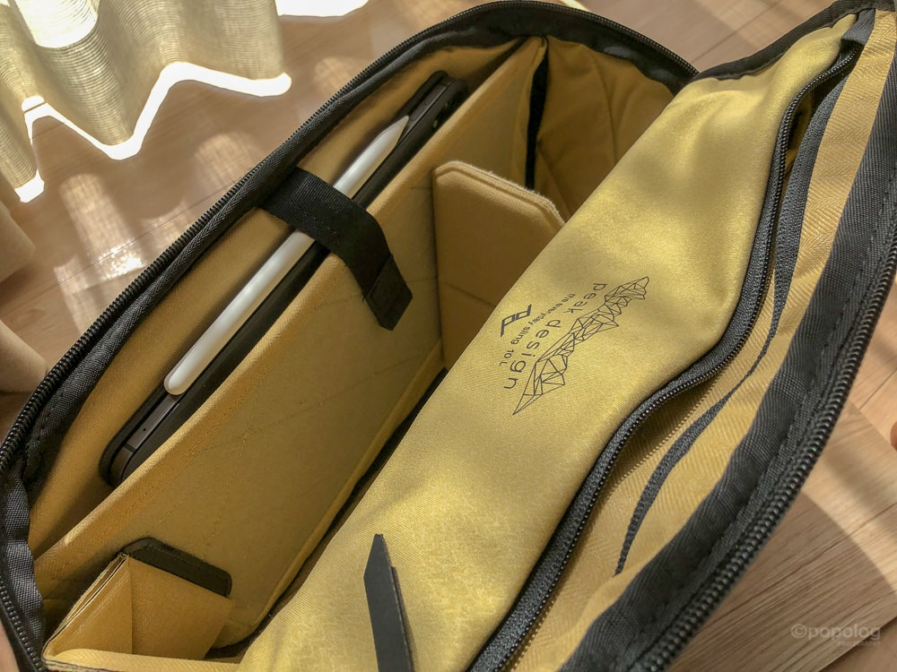 Peak Design Everyday Sling 10L iPad Pro11 inchの収納例