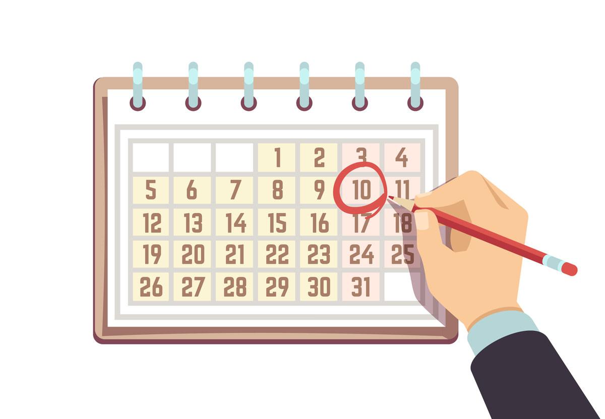 カレンダー別のフォルダ分け